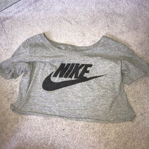 Grey Nike crop top